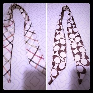 Authentic Coach silk reversible scarf (two sided)